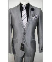 Fit Dress Silver Sharkskin