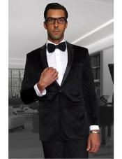 Black Discounted Mens blazer Sportcoat Velvet Fabric on Sale