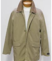 Khaki 3/4 Rain Coat
