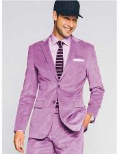 Lavender 2 Button Style Notch Lapel CORDUROY SUIT ( Blazer Sportcoat + Slacks)