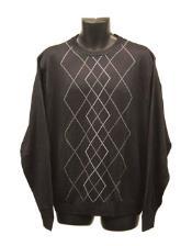 Crew Neck Black Sweaters