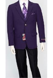 Mens Classic Dark Purple Blazer Jacket Blair