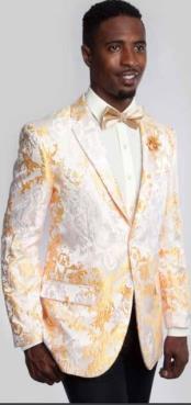 Satin Shiny Tuxedo Yellow/Orange