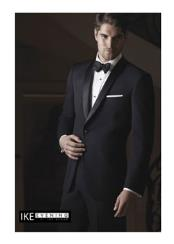 Black 1-Button Shawl Tuxedo Ike Evening by Ike Behar Tuxedo Authentic