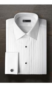Pleated Laydown Tuxedo Shirt