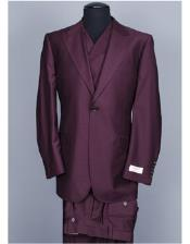 Mens Burgundy ~ Wine ~ Maroon Color Tiglio Rosso San Giovesse Suit&Vest