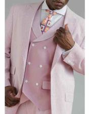 Button Vented Seersucker Suit