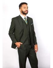 Lapel 100% Wool Green