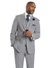 2 Button Peak Lapel Suits