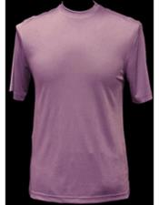 Mock Neck Shiny Pink