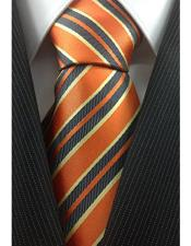Necktie Orange with Yellow