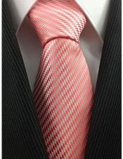 Woven Salmon ~ Coral Pink and