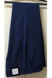 Vitarelli Mens Royal Blue Slim Fit Flat Front Pant