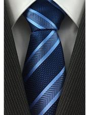 Necktie Navy and Baby Blue Pearl