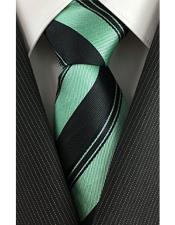 Necktie Black with Mint