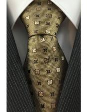 Necktie Iridescent Brown Woven with Geometric