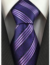 Necktie Purple Textured Stripe