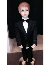 Children Boys Black Tuxedo