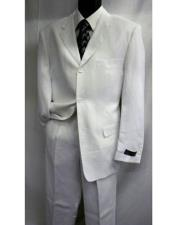 Mens Three / Three ~ 3 Buttons Style Notch Lapel Solid White or black Linen Fabric summer