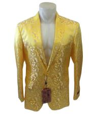 Yellow Mens Blazer
