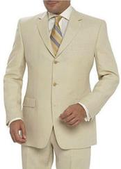 Alberto Nardoni Brand Available in Tan or Natural or Black Three Buttons Linen Suit