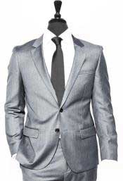 Button Alberto Nardoni Light Grey Vested 3 Pieces Summer Linen Wedding/Groom/Groomsmen