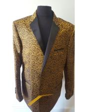 Nardoni Brand Floral Sportcoat ~ Paisley Jacket ~ Shiny ~ Fashion Blazer For Men Khaki Dinner Jacket