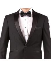 Online Instead of Rental Slim Fit Peak Lapel Groom & Groomsmen