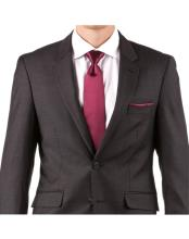 Charcoal 100% Wool Single Breasted Wedding Suit