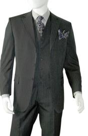 Charcoal Grey Pinstripe ~