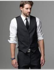 Black Wedding Attire for Groom and Groomsmen