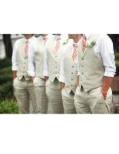 2 Button Front Groom and Groomsmen Wedding Attire