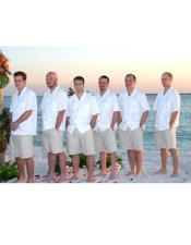 Double Vented Groom and Groomsmen Wedding Attire