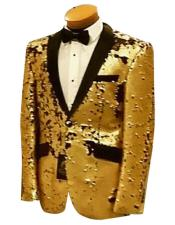 Nardoni Mens Two Buttons Single Breasted Gold fashionable Suit