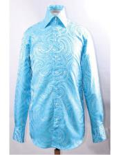 Turquoise Dress Shirts for Men