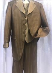 Pinstripe Brown Suit