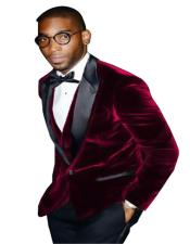 Burgundy ~ Wine ~ Maroon Color Big And Tall Blazers Cheap