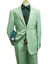 Single Breasted Notch Lapel green suit