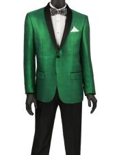 SKU#CH2366 Mens Fashion Blazer ~ Sport Coat ~ Tuxedo Dinner Jacket Green