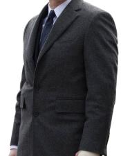 Single Breasted Notch Lapel Charcoal 2 Button Suit