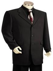 Flap Two Pocket Black 3pc Suit And Pants