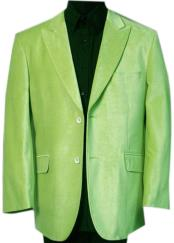 Mens Velvet ~ Velour Fabric Two Buttons Lime Green ~ Mint Sport Coat  Blazer Sport Jacket