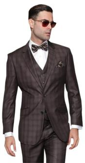 2 Button Windowpane Vested