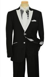 Button White Peak Lapel