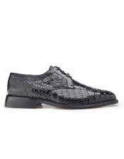 Mens Genuine Crocodile Black