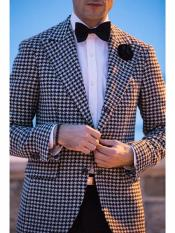 Button houndstooth checkered Designed