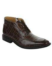 Mens Lace Up Pu Brown Leather Sole Shoes