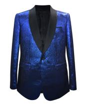 Nardoni Brand Mens Shiny 1 Button Cheap Priced Designer Fashion Dress