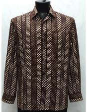 Collar Neck Brown Microfiber