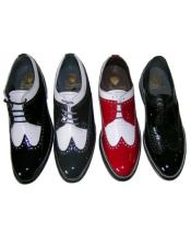 Mens Red And White Dress Shoes